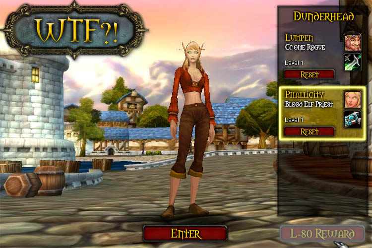 elcome! You've stumbled into WTF?! - a WoW inspired side-scrolling ...
